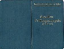 KASSEL Gesellen Prüfungszeunis Lehrbrief  OPTIKER 1931 Ausweis Handwerk  (110