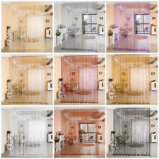 Decorative Door String Curtain Beads Wall Panel Fringe Window Divider Blind