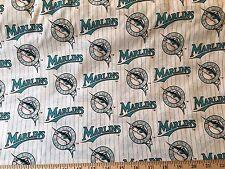 Florida Marlins Vintage 1yd Cotton Fabric MLB Miami Baseball All-Star Game 2017