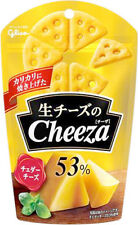CHEEZA 53% Cheddar Cheese Cracker Snack by Glico from Japan 40g