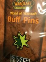 World Of Warcraft 2007 Blizzcon Buff Pin — Druid REGROWTH — Blizzard NIB Green
