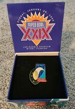 Coca-Cola Coke Superbowl Super Bowl 29 1995 Limited Edition Collector Pin & Box
