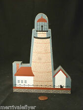 Wood Lighthouse Model Spectacle Reef Light Lake Huron Folk Art primitive stamp