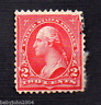 United States George Washington 2 Cents Red Used Vintage Stamp