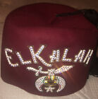 Vintage MASONIC SHRINERS JEWELED ELKALAH FEZ Hat