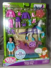 Mattel Polly! Pocket Doll Snow Cool Sleigh Day w/Horse #H1548 New in Package NIP