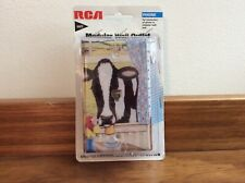"NEW RCA MODULAR WALL PHONE OUTLET DECORATED IN A ""COW"" THEME"