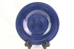 "Pottery Barn Sausalito Rimmed Soup Bowl 10 "" Sapphire Blue Navy"
