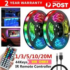 RGB LED STRIP LIGHTS IP33 3528 1/2/5/10/20M 400 LEDS 12V + 44 KEY IR CONTROLLER