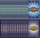 DIGIMON DIGI-BATTLE CCG - RANDOM BOOSTER SERIES 1-5 + STARTER DECK 100 CARD LOT
