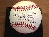 TOMMY DAVIS 1962-1963 NL BATTING CHAMP LA DODGERS SIGNED AUTO OML BASEBALL JSA