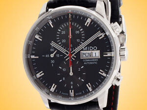 Mido Commander II Automatic Chronograph Stainless Steel Men's Watch
