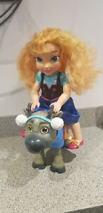 large Disney Frozen Sven And Anna Toy doll/figures