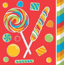New Kids  Sugar Buzz Candy Party  Birthday Party Lunch Napkin Lollipop 16 ct