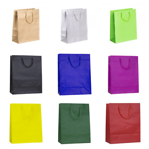 SALE! MATT LAMINATED BAGS PAPER BOUTIQUE BAG GIFT BAGS WITH ROPE HANDLES