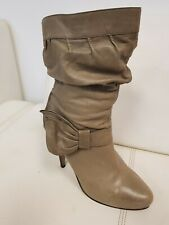 River Island Leather Calf Length Boots Tan size 7/40