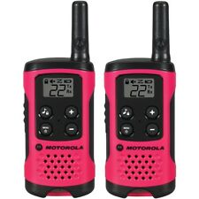 Motorola Pink 22 Channel Talkabout Two-Way Radios with Belt Clips from US Seller