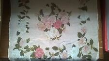 Authentic Vintage 90's Chanel Scarf / Pink Chiffon Silk w/ Roses