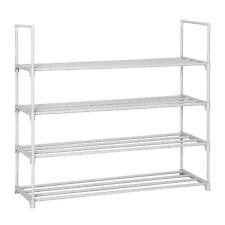 4 Tier Shoe Rack Shoe Tower Shelf Shoe Storage Organizer Cabinet Holds 16 pairs
