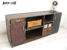 Anrichte im Industriedesign Metall Schrank Massivholz Kommode Sideboard Vintage