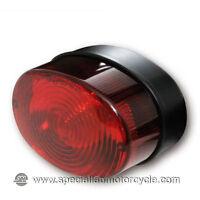Fanalino Posteriore Alogeno  Oval Red Lens Cafè Racer Brat Scrambler