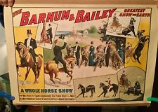 BARNUM & BAILEY CIRCUS POSTER HORSE SHOW POSTER ATTRACTIVE LATER REPRINT