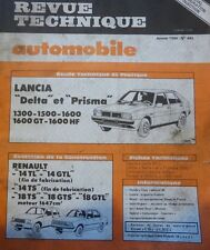Revue technique LANCIA DELTA PRISMA 1300 1500 1600 1600 GT 1600 HF RTA 440 1984