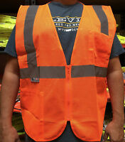 Radians 2 Pockets Orange Mesh High Visibility Safety Vest, ANSI/ ISEA 107-2015