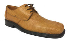 Mens Buttercup Crocodile Skin Dress Shoes Cowboy Oxfords Exotic Genuine Leather