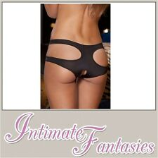 Black Crotchless Knickers Sexy Open Crotch Thong Panty Plus XL Size 8 10 18 20
