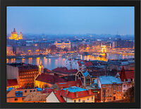 BUDAPEST EVENING HUNGARY NEW A3 FRAMED PHOTOGRAPHIC PRINT POSTER