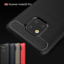 Shockproof Slim Carbon Fiber Soft Silicone TPU Phone Case Cover Skin For Huawei