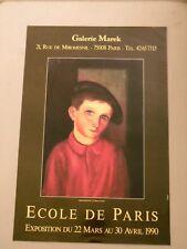 KISLING Moïse Affiche originale 90 Enfant Cracovie Montparnasse Ecole de Paris
