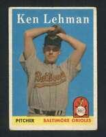 1958 Topps #141 Ken Lehman VG/VGEX Orioles 80957