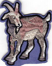 GOAT - FARM ANIMAL - IRON ON EMBROIDERED APPLIQUE PATCH