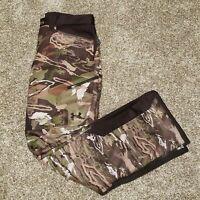 Under Armour Stealth Forest Camo Fleece Hunting Camo Pants 1291443-943 Sz 38x32
