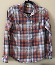 Eddie Bauer womens Camp Shirt Plaid Hiking Sz xs Nylon Outdoor