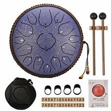 Handpan Submarine Tongue Drum 14Zoll Lotustrommel Zungentrommel Percussion blau