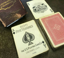 Swastika (Good Luck) back No 500 Antique Playing Cards US Playing Card Co c1928
