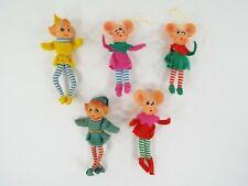 Vintage Japan Pixie Elf & Mouse Dolls Doll Ornament Lot of Elves & Mice