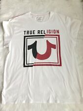 True Religion White Black & Red Logo Short Sleeve T-Shirt 3XL.