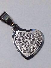 stainless steel Ave Maria Catholic Religious Prayers pendant
