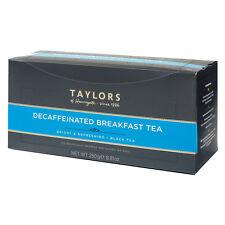 Taylors of Harrogate Decaffeinated Breakfast Tea 100 Wrapped & Tagged Bags