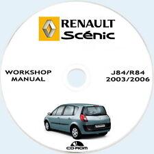 Workshop Manual,Renault SCENIC II.Manuale Officina Renault SCENIC J84/R84.