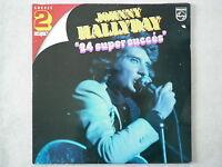 """Johnny Hallyday double 33Tours vinyles Succès """"24 Super Succès"""""""
