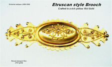 Victorian Etruscan Style 15ct Yellow Gold Brooch Pin quality Antique c1860-1900