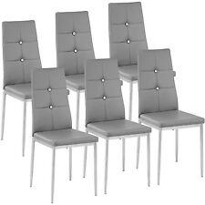 Kit de 6 sillas de comedor Juego elegantes sillas de diseño modernas cocina gris