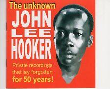 CDJOHN LEE HOOKERthe unknownEX+   2000   (B3758)
