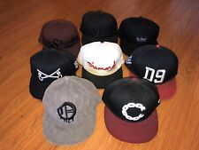 Lot of (8) Fitted Snapback Hat Caps - Obey Crooks Castle Diamond Supply D9