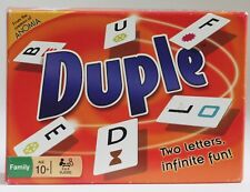 "DUPLE Family Card Game (2012, Anomia Press) UNUSED ""Two Letters, Infinite Fun!"""